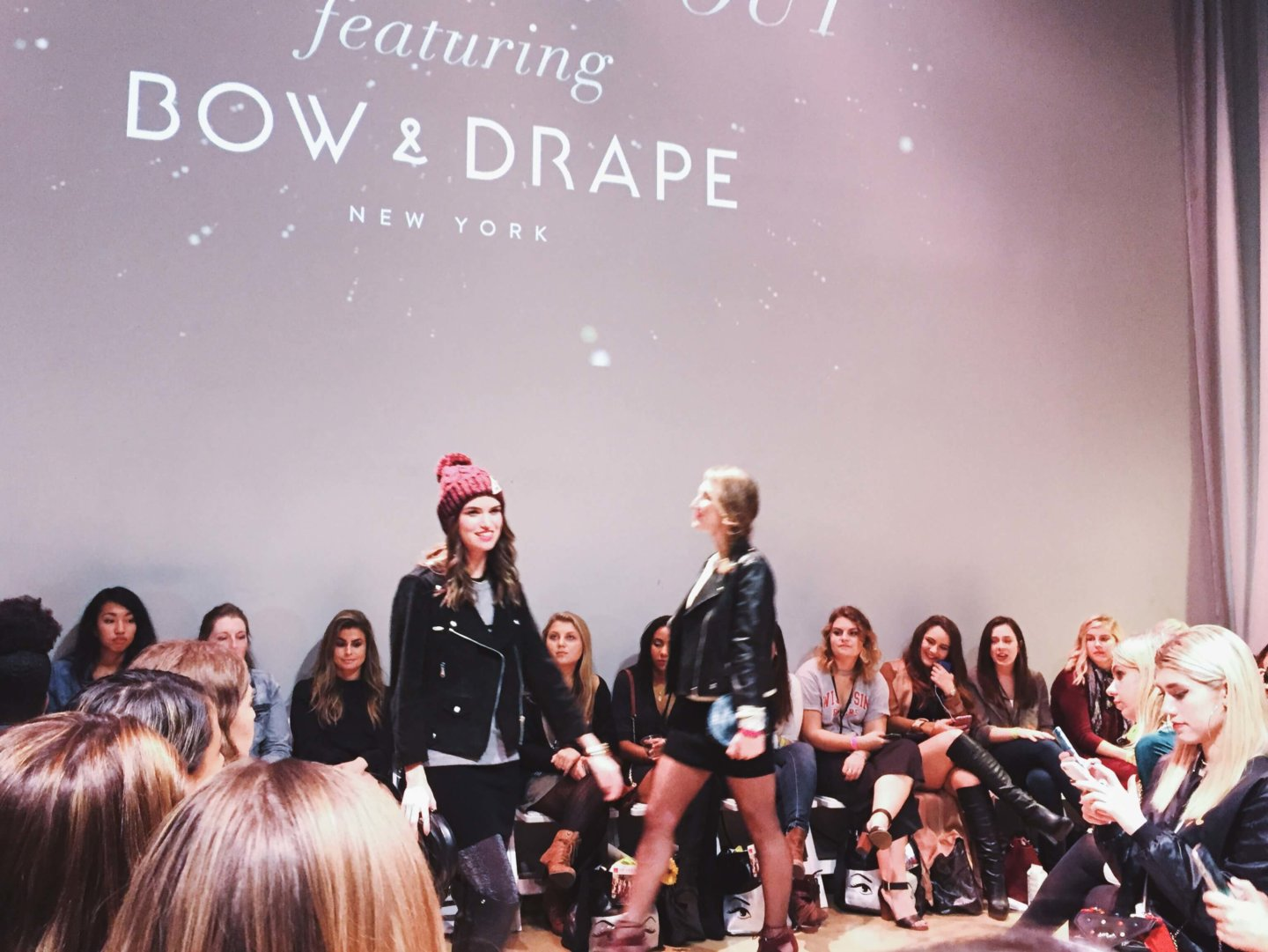 College Fashion Week in Chicago Runway Show featuring Bow + Drape.