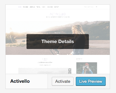 Start a Blog WordPress Theme Live Preview