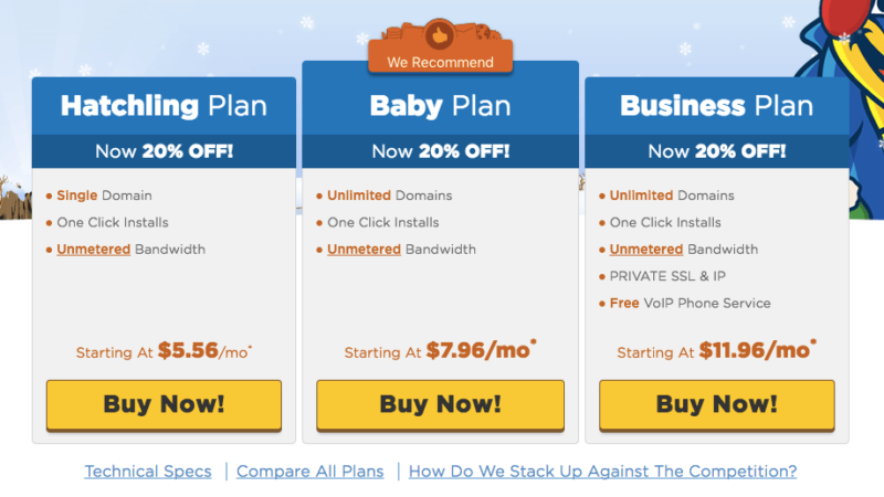 Start a Blog HostGator Plans