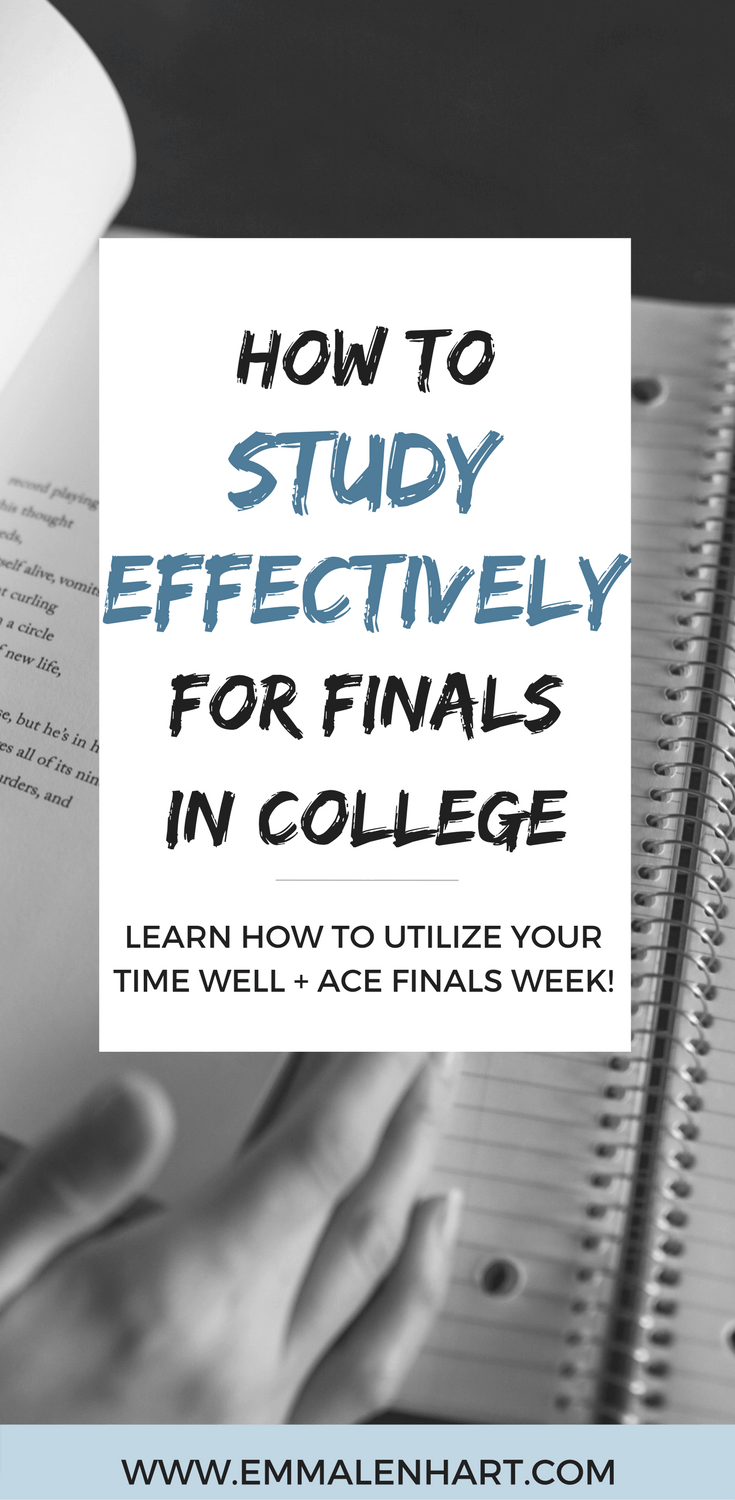How to Study Effectively for Final Exams