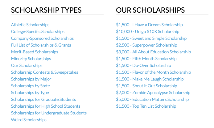 Scholarships for High School Seniors Unigo