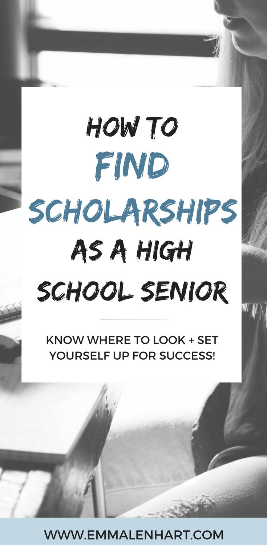 Scholarships for High School Seniors Pinterest